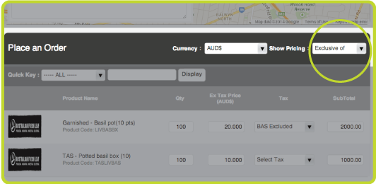 It can also be changed when placing an individual order.